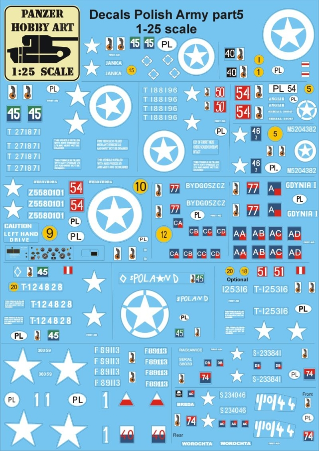Decals Polish Army part 5 1-25 scale