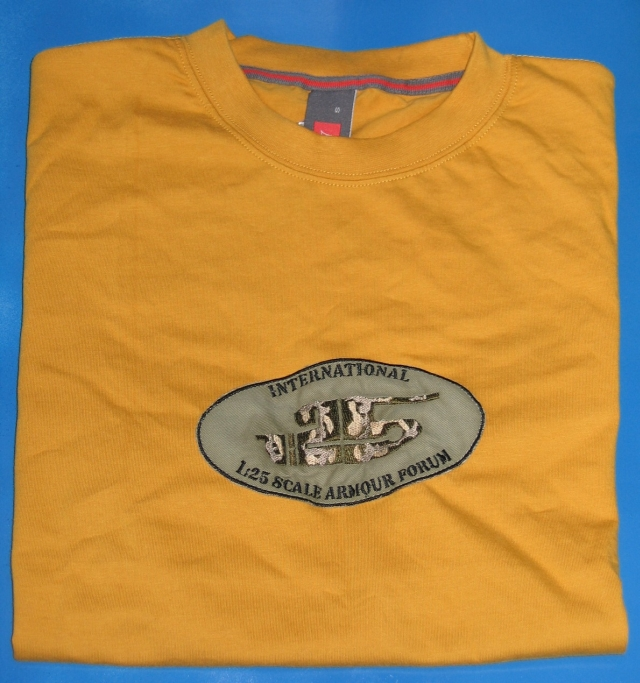 T shirt -logo embroidering size L